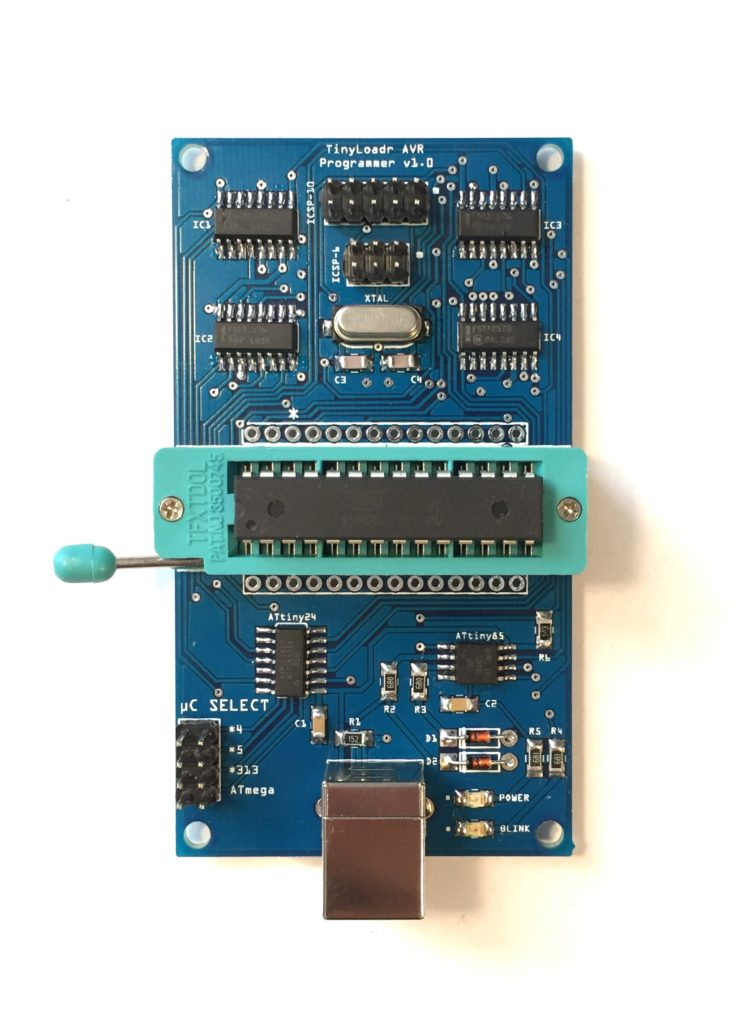 The current version with a USB-B connector.